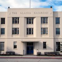 Alaska Railroad Depot Anchorage by bensonga in bensonga