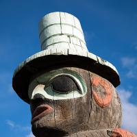 Alaska Rr Station Totem Pole