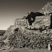 Wupatki Ruins National Monument B&W Sepia by bensonga