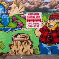 Petes Tobacco Shop Mural by bensonga