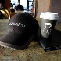Subaru and Black Cup Coffee by bensonga