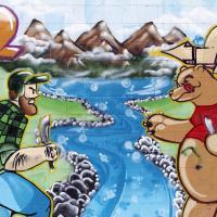 Pete's Smoke Shop Mural by bensonga in bensonga
