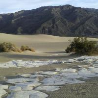 DVNP Mesquite Dunes and Panamint Mountains by bensonga