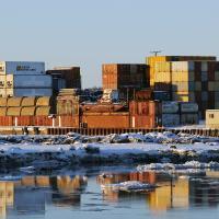 Ship Creek and Anchorage Port by bensonga