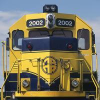 Alaska Rr Locomotive 2002 Front-1v by bensonga