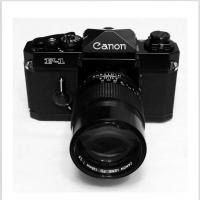Canon F-1 With Fd 135mm F2.8 Lens