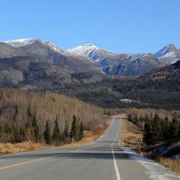 Glenn Highway Looking Towards Sheep Mountain by bensonga