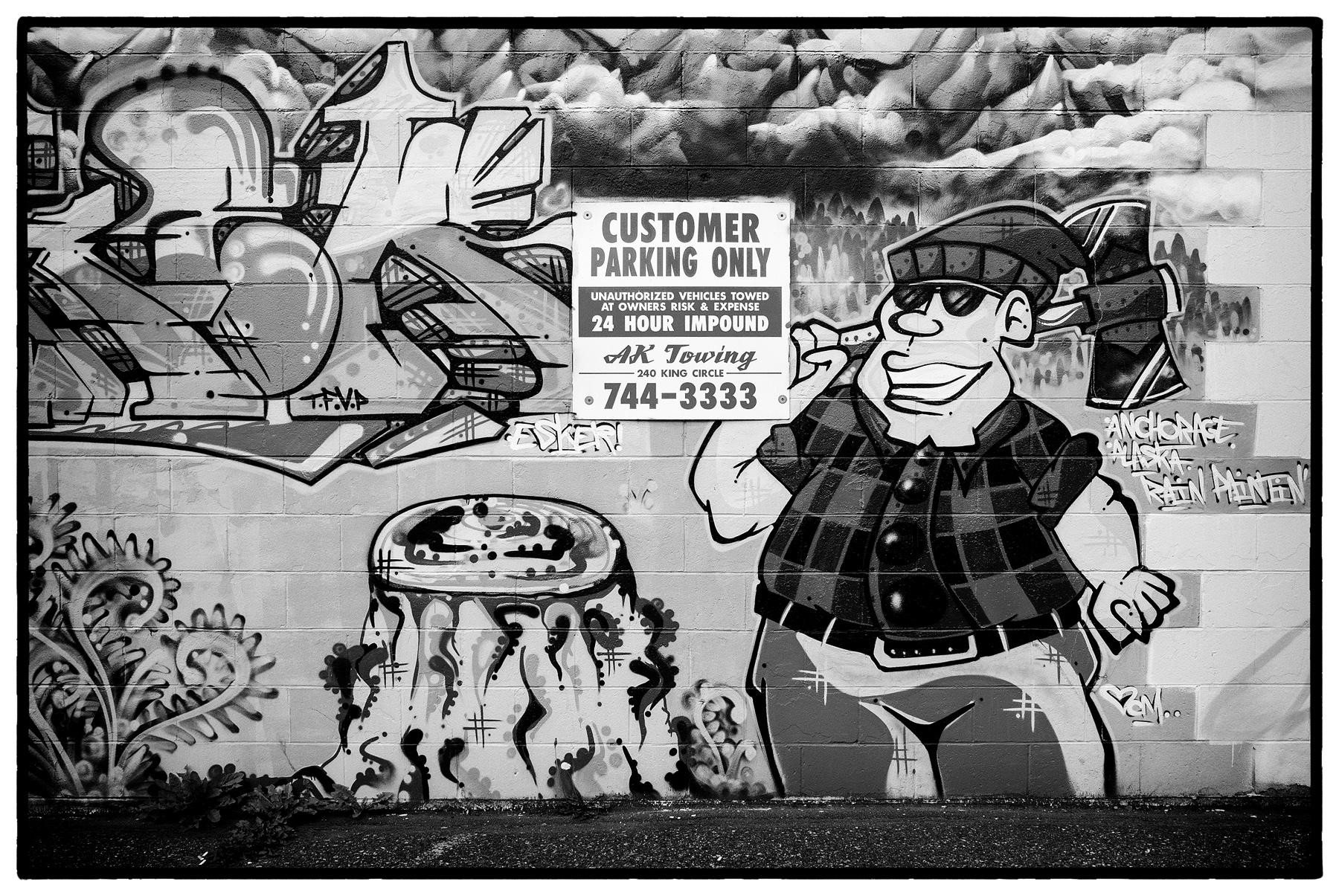 Pete's Tobacco Shop Mural in B&W by bensonga in bensonga