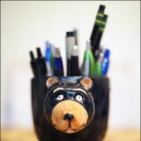 Black Bear Pencil-Pen Cup by bensonga in bensonga