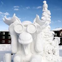 Anchorage Fur Rondy Snow Sculpture - Bino Moose by bensonga in bensonga