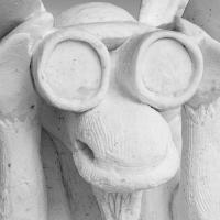 Anchorage Fur Rondy Snow Sculpture - Bino Moose B&w by bensonga in bensonga