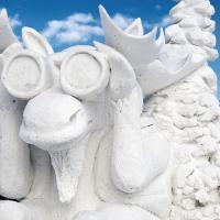 Anchorage Fur Rondy Snow Sculpture - Bino Moose by bensonga
