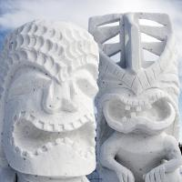 Anchorage Fur Rondy Snow Sculpture - Two Figures