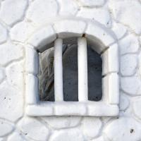 Anchorage Fur Rondy Snow Sculpture - Barred Window by bensonga