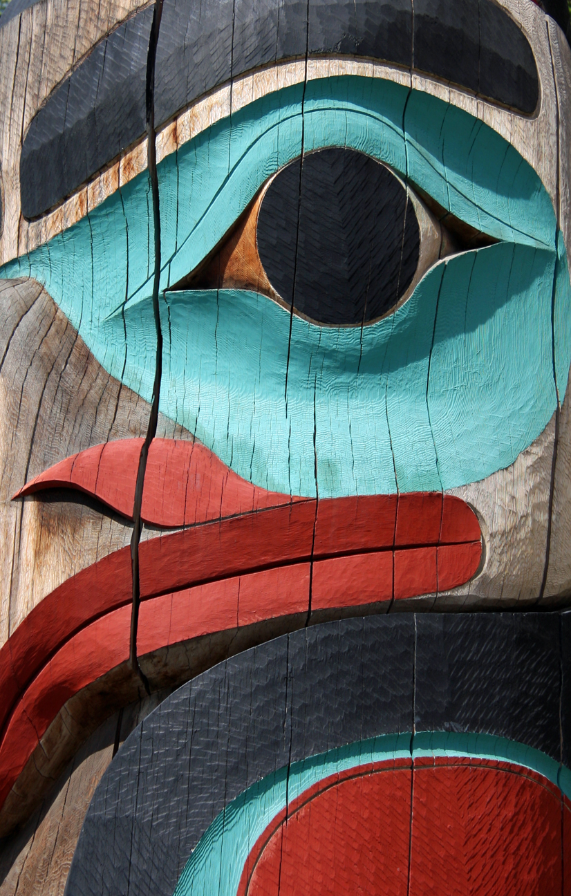 Alaska Raven Totem Pole