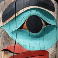 Alaska Raven Totem Pole by bensonga