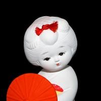 Japanese Geisha Ceramic Doll by bensonga