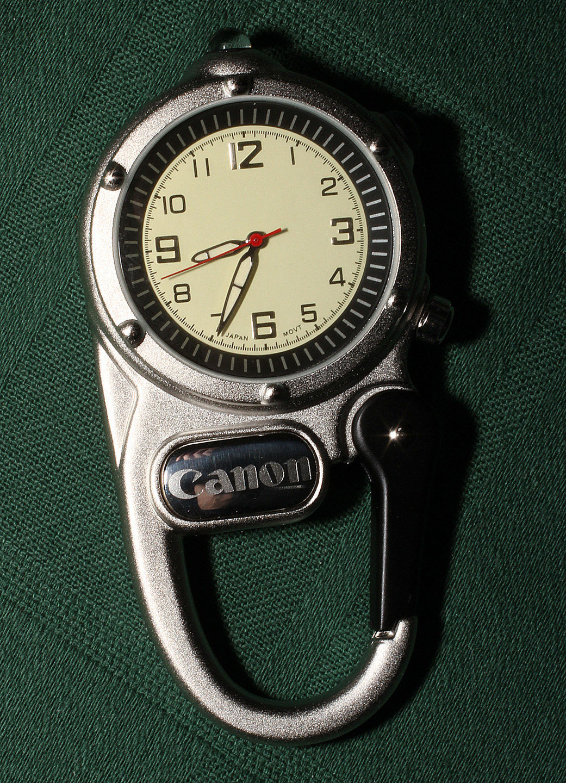 Canon Carabiner Clock ($3 Canon Swag) by bensonga in bensonga