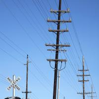 Rr Crossing And Telephone Poles Large by bensonga