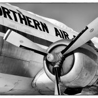 Northern Air Cargo Dc-6 B&w by bensonga in bensonga