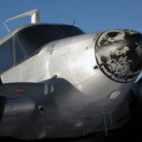 Silver Twin Engine Plane by bensonga in bensonga