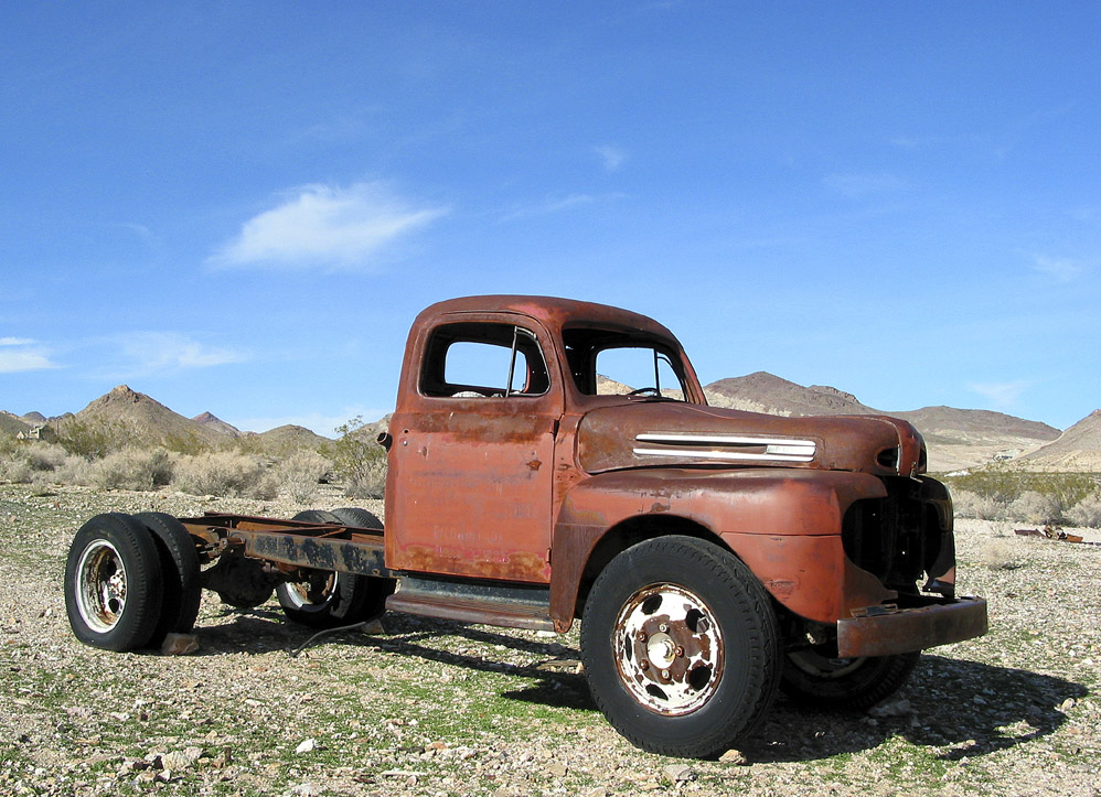 Old Truck In Rhyolite, Nv by bensonga in bensonga