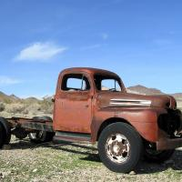 Old Truck In Rhyolite, Nv by bensonga