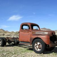 Truck In Rhyolite, Nevada by bensonga in bensonga