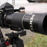 Pentax 67 And 300mm Ed If On Location by bensonga in bensonga