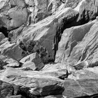 Bird Point Rocks B&w