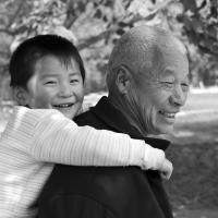 Jono's Chinese Grandpa And Child by bensonga in bensonga
