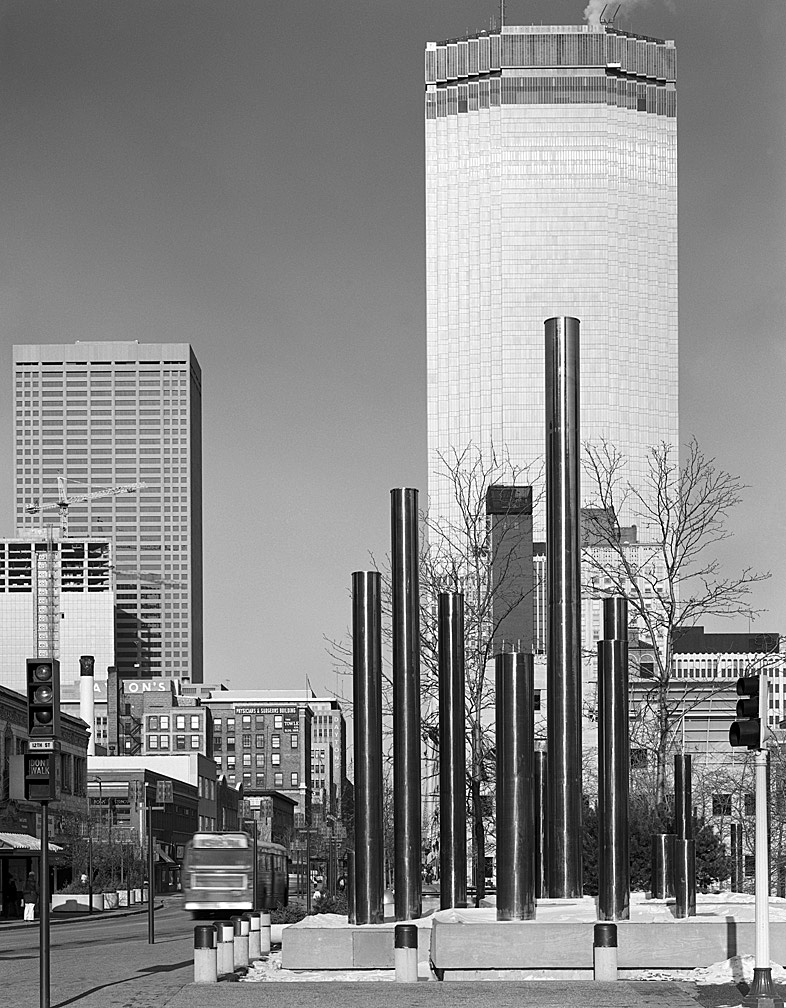 Minneapolis Nicollet Mall And Ids Building by bensonga in bensonga