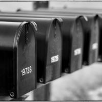 Mailboxes in B&W by bensonga in bensonga