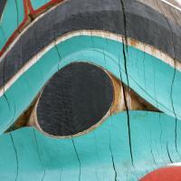 Detail Of Alaska Totem