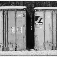 SEA-LAND Containers (B&W) by bensonga in bensonga