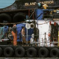 Island Warrior Barge 100 Percent Crop by bensonga