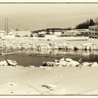 Ship Creek In Winter by bensonga in bensonga