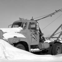 Steet Fabricators Truck In Winter by bensonga in bensonga