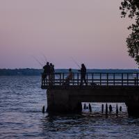 Night Fishermen On The Potomac by TimothyHyde
