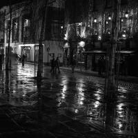 Night Rain In Temple Bar, Dublin by TimothyHyde